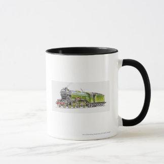 Mug Illustration du train de Scotsman de vol