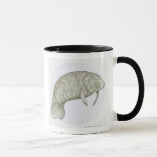 Mug Illustration d'un lamantin (espèces de Trichechus)