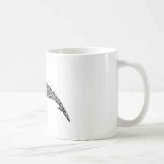 Mug Illustration graphique tribale de petite baleine