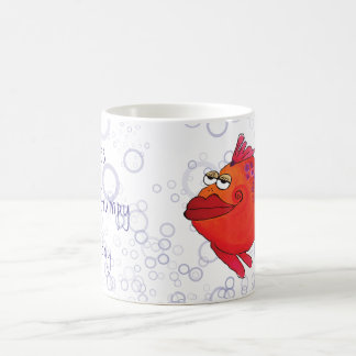 Mug Illustration grincheuse de poissons