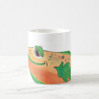 Mug Illustration lunatique de corail de poissons de la