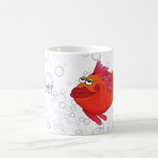 Mug Illustration lunatique de poissons