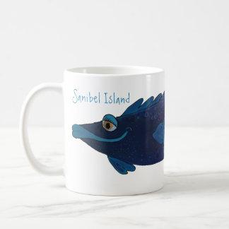 Mug Illustration lunatique de poissons - île la