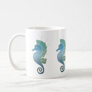 Mug Illustration lunatique et adorable d'hippocampe