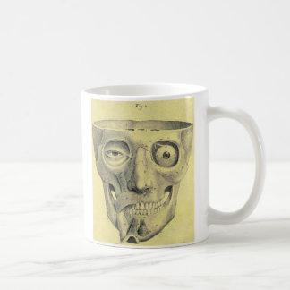 Mug Illustration médiévale de crâne de rétro kitsch