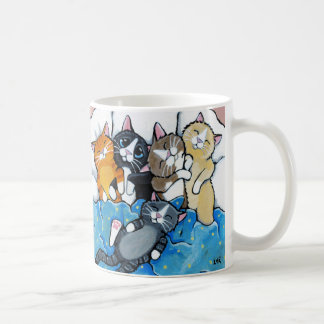 Mug Illustration mignonne de Sleepover de chaton