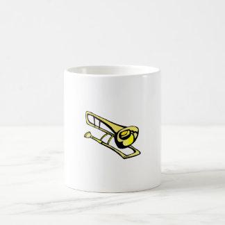 Mug image jaune stylisée de graphique de trombone