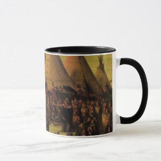 Mug Indiens vintages, le Conseil de guerre de Sioux