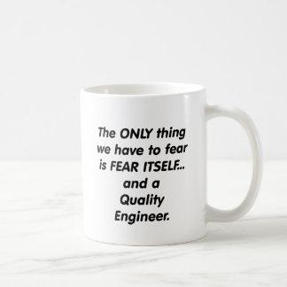 Mug ingénieur de qualité de crainte