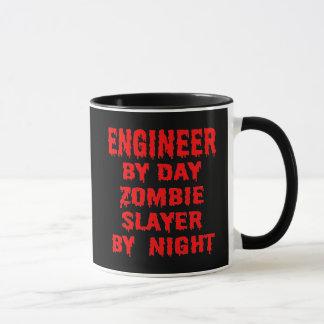 Mug Ingénieur par le tueur de zombi de jour par nuit