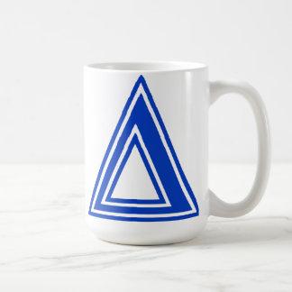 Mug Initiale bleue de monogramme de delta grec de
