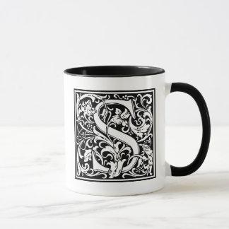 """Mug Initiale décorative """"S"""" de lettre"""