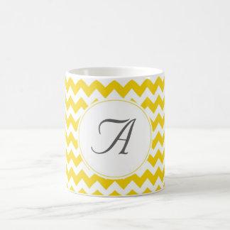 Mug Initiales de Chevron de monogramme