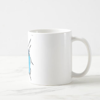Mug insecte coccinelle fluo bleue fashion