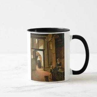Mug Intérieur d'une Chambre néerlandaise (huile sur le
