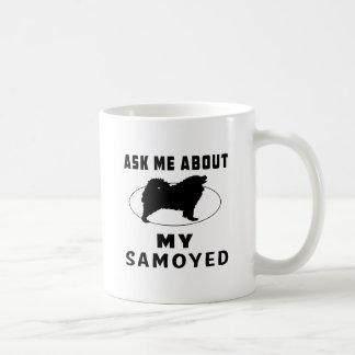 Mug Interrogez-moi au sujet de mon Samoyed