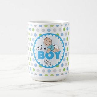 Mug/It est un garçon avec le pois Mug Blanc