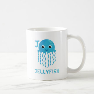 Mug J est pour des méduses