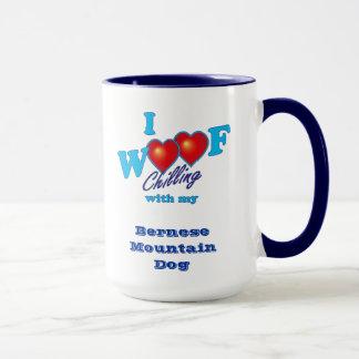 Mug J'aboie le chien de montagne de Bernese