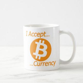 Mug J'accepte le type 02 de devise de Bitcoin
