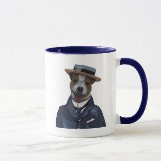 Mug Jack Russell dans le chapeau en paille 2