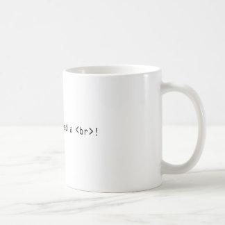 Mug J'ai besoin d'une coupure de HTML !