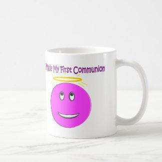Mug J'ai fait à ma première communion le grand smiley