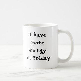 Mug J'ai plus d'énergie le vendredi, I SA… - Customisé
