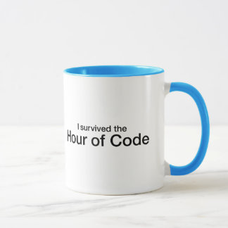 Mug J'ai survécu à l'heure du code