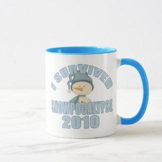 Mug J'ai survécu à Snowpocalypse 2010