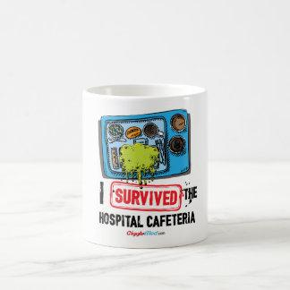 Mug J'ai survécu au cafétéria d'hôpital