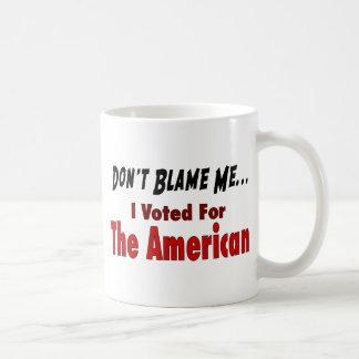 Mug J'ai voté pour l'Américain