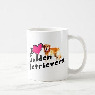 Mug J'aime (coeur) les chiens d'arrêt d'or