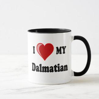 Mug J'aime (coeur) mon chien dalmatien