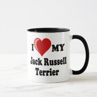 Mug J'aime (coeur) mon chien de Jack Russell Terrier