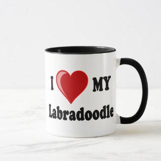 Mug J'aime (coeur) mon chien de Labradoodle