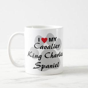 Mug J'aime (coeur) mon épagneul cavalier du Roi