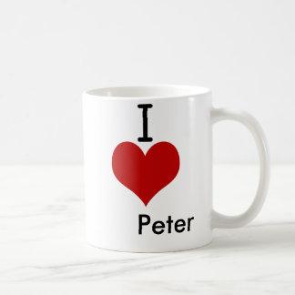 Mug J'aime (coeur) Peter