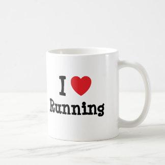 Mug J'aime courir la coutume de coeur personnalisée