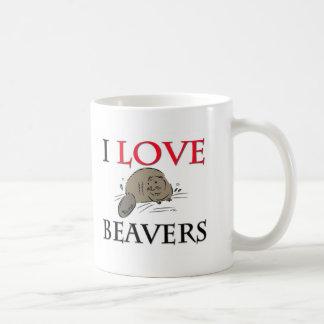 Mug J'aime des castors