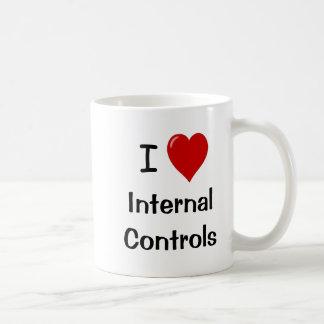 Mug J'aime des contrôles internes de coeur des