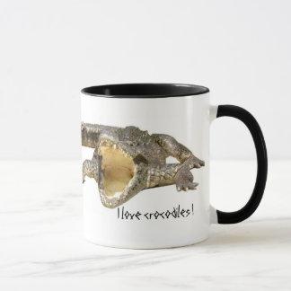 Mug J'aime des crocodiles !