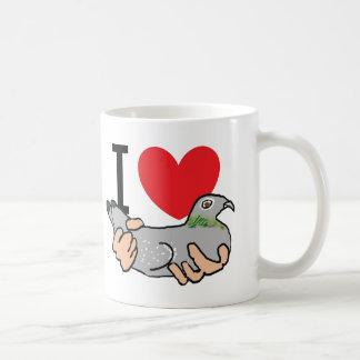 Mug J'aime des pigeons