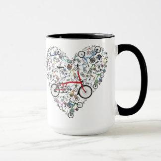 Mug J'aime des vélos de Brompton