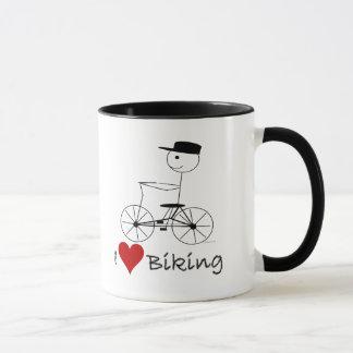 Mug J'aime faire du vélo les cadeaux et l'habillement