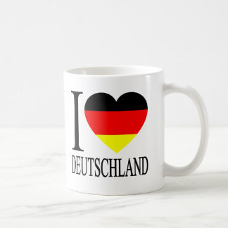 Mug J'aime le coeur allemand de drapeau du Deutschland