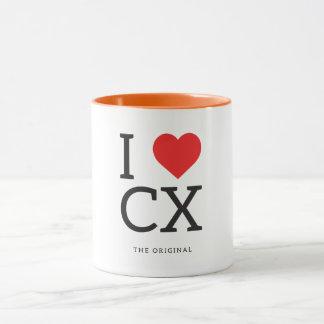 Mug J'aime le coeur CX de l'Île Christmas | I attaque