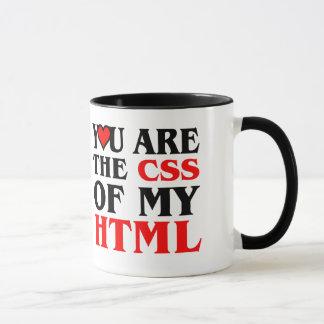 Mug J'aime le CSS/VOUS SUIS LE CSS de MON HTML/COEUR