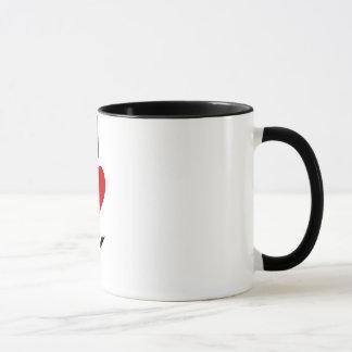 Mug J'aime le karaté (vertical)