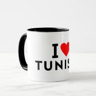 Mug J'aime le pays de la Tunisie comme le tourisme de